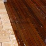 lames en bois exotique ipé mouillée