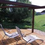 terrasse en bois exotique avec systeme clips inox invisible