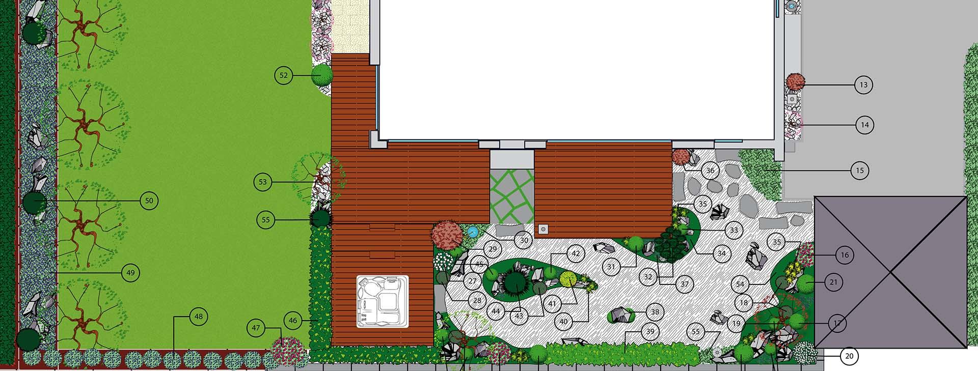 plan projet transformation jardin zen