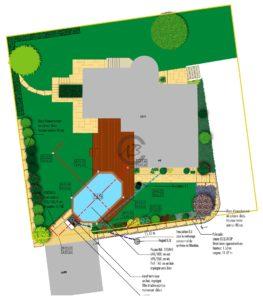 plan pour une mise à l'enquête d'une piscine à Pully (VD)