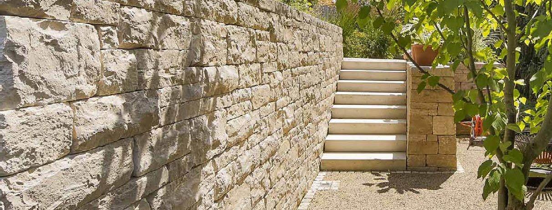 mur en pierre de taille calcaire opus romanum